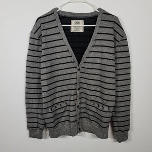 Men's Chor Striped Button Up Sweater